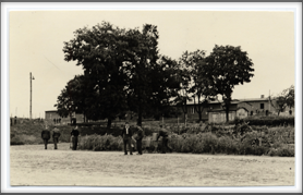 1943-44 Oflag 64 barracks as seen from the sports field