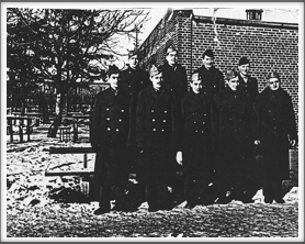 This camp photo was submitted in  photocopy form.   (If you have an original of this photo and/or can identify the men in the photo, please contact us.)