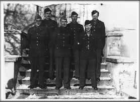 Front l-r:  Smith, Carlson, Hancock; Back l-r:  Buckley, Ronald Hardy, Verris Hubbell