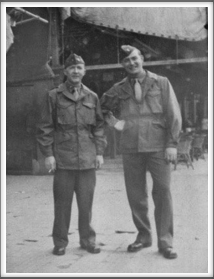 Donald Hunker (r) and friend. Unknown date/place.